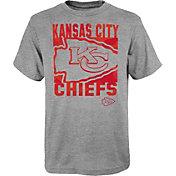 NFL Team Apparel Youth Kansas City Chiefs Grey Element T-Shirt