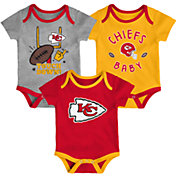 NFL Team Apparel Infant Kansas City Chiefs 3-Piece Creeper Set