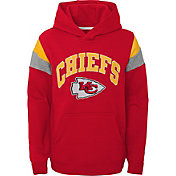 NFL Team Apparel Youth Kansas City Chiefs Retro Color Block Pullover Hoodie