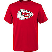 NFL Team Apparel Youth Kansas City Chiefs Red Team Logo T-Shirt