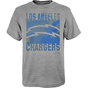 NFL Team Apparel Youth Los Angeles Chargers Grey Element T-Shirt