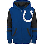 NFL Team Apparel Youth Indianapolis Colts Color Block Full-Zip Hoodie