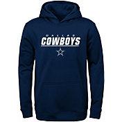 NFL Team Apparel Youth Dallas Cowboys Static Navy Hoodie