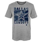 NFL Team Apparel Youth Dallas Cowboys Element Heather Grey T-Shirt