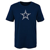 NFL Team Apparel Youth Dallas Cowboys Team Logo Navy T-Shirt