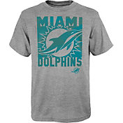 NFL Team Apparel Youth Miami Dolphins Grey Element T-Shirt