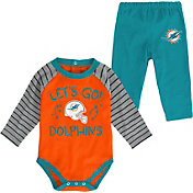 NFL Team Apparel Youth Miami Dolphins Long Sleeve Set