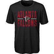 NFL Team Apparel Youth Atlanta Falcons Grand Central Black T-Shirt