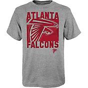 NFL Team Apparel Youth Atlanta Falcons Grey Element T-Shirt