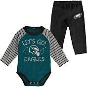 NFL Team Apparel Youth Philadelphia Eagles Long Sleeve Set