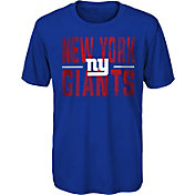 NFL Team Apparel Youth New York Giants Blue Grand Central T-Shirt