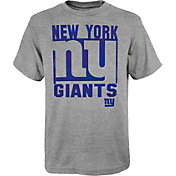 NFL Team Apparel Youth New York Giants Grey Element T-Shirt