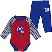 NFL Team Apparel Youth New York Giants Long Sleeve Set