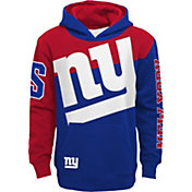 NFL Team Apparel Youth New York Giants QB Sneak Pullover Hoodie