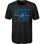 NFL Team Apparel Youth Detroit Lions Grand Central Black T-Shirt