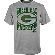 NFL Team Apparel Youth Green Bay Packers Grey Element T-Shirt