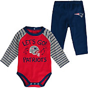 NFL Team Apparel Youth New England Patriots Long Sleeve Set