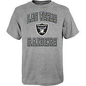 NFL Team Apparel Youth Las Vegas Raiders Chiseled Grey T-Shirt