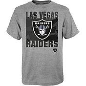 NFL Team Apparel Youth Las Vegas Raiders Grey Element T-Shirt