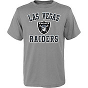 NFL Team Apparel Youth Las Vegas Raiders Bevel Grey T-Shirt
