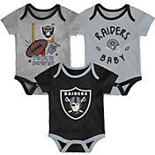 NFL Team Apparel Infant Las Vegas Raiders 3-Piece Creeper Set