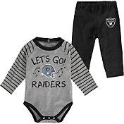 NFL Team Apparel Youth Las Vegas Raiders Long Sleeve Set