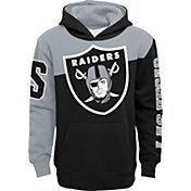 NFL Team Apparel Youth Las Vegas Raiders QB Sneak Pullover Hoodie