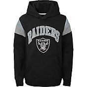 NFL Team Apparel Youth Las Vegas Raiders Retro Color Block Pullover Hoodie