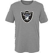 NFL Team Apparel Youth Las Vegas Raiders Grey Team Logo T-Shirt