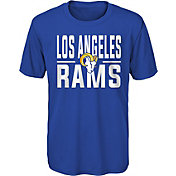 NFL Team Apparel Youth Los Angeles Rams Blue Grand Central T-Shirt