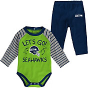 NFL Team Apparel Youth Seattle Seahawks Long Sleeve Set
