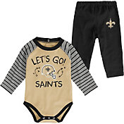 NFL Team Apparel Youth New Orleans Saints Long Sleeve Set