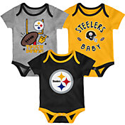 NFL Team Apparel Infant Pittsburgh Steelers 3-Piece Creeper Set