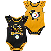 NFL Team Apparel Infant Girl Pittsburgh Steelers 2-Piece Creeper Set
