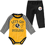 NFL Team Apparel Youth Pittsburgh Steelers Long Sleeve Set