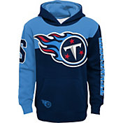 NFL Team Apparel Youth Tennessee Titans QB Sneak Pullover Hoodie