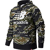 New Balance Men's Essentials Stacked AOP Pullover Hoodie