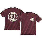 New World Graphics Men's Mississippi State Bulldogs Maroon Baseball T-Shirt