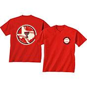 New World Graphics Men's Texas Tech Red Raiders Red Baseball T-Shirt