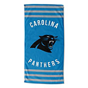 Northwest Carolina Panthers Stripes Beach Towel