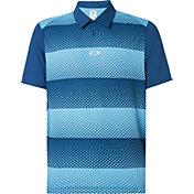Oakley Men's Dot Stripes Golf Polo Shirt