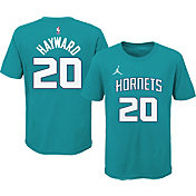 Jordan Youth Charlotte Hornets Gordon Hayward #20 Teal Cotton T-Shirt