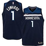 Nike Youth Minnesota Timberwolves Anthony Edwards #1 Navy Dri-FIT Swingman Jersey