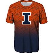 Outerstuff Youth Boys' Illinois Fighting Illini Navy Stadium T-Shirt