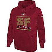 New Era Men's San Francisco 49ers Combine Performance Red Hoodie