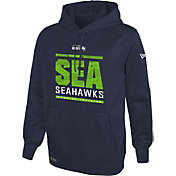 New Era Men's Seattle Seahawks Combine Performance Navy Hoodie