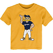 Gen2 Youth Toddler Milwaukee Brewers Gold Mascot T-Shirt