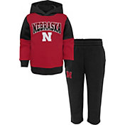 Outerstuff Toddler Cornhuskers Red Sideline Fleece Set