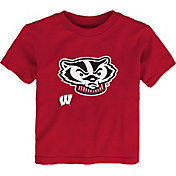 Outerstuff Youth Toddler Wisconsin Badgers Red Mascot T-Shirt