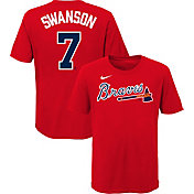 Nike Youth Atlanta Braves Dansby Swanson #7 Red T-Shirt